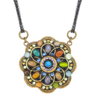 Michal Golan Dark Flower Necklace