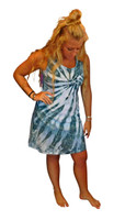 Ice Tye Dye Tank Dress by Martha~Aegean Sea