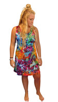 Ice Tye Dye Tank Dress by Martha~Rainbow