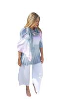 Silk Modal Wrap By Annie Turbin~Pink & Grey Stripe