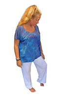 Hydrangea Wave  Bamboo  Top by Moontide Dyers