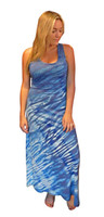 Hydrangea Wave  Bamboo  Dress by Moontide Dyers