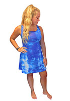Blue Poppy Tangle  Bamboo  Dress by Moontide Dyers