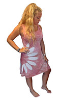 Pale Ruby Spotlight  Bamboo  Dress by Moontide Dyers