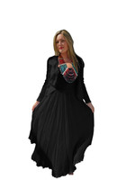 Luna Luz Black Linen Jacket~726