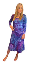 Ice Tye Dye Midi Dress by Martha~Hydrangea
