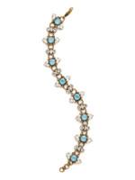 ***SPECIAL ORDER***DENIM BLUE Crystal Bracelet by Sorrelli~BDM50AGSMR