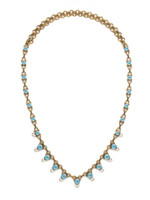 ***SPECIAL ORDER***DENIM BLUE Crystal Necklace by Sorrelli~NDM48AGSMR