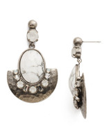 Sorrelli White Howlite Earrings~EDM73ASWH