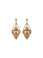 CORAL REEF CRYSTAL EARRINGS BY SORRELLI~EBP20BGCOR