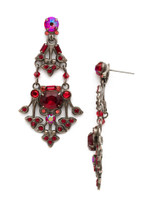 Red Ruby Crystal Earrings~EDQ61ASRRU
