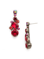 Red Ruby Crystal Earrings~ECF6ASRRU