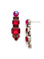 Red Ruby Crystal Earrings~EDQ58ASRRU