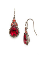 Red Ruby Crystal Earrings~EDP22ASRRU