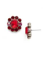 Red Ruby Crystal Earrings~EDQ66ASRRU