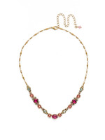 Sorrelli Radiant Sunrise Crystal Necklace~ NDS48AGRS