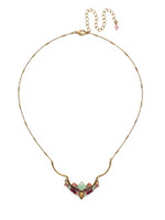 Copy of Sorrelli Radiant Sunrise Crystal Necklace~ NDR9AGRS