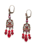 Red Ruby Crystal Earrings~EDQ63ASRRU