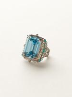 Sorrelli Sea Glass Crystal Ring~RCK2ASSGL