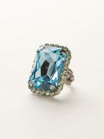 Sorrelli Sea Glass Crystal Ring~RBT69ASSGL