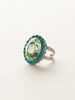 Sorrelli Sea Glass Crystal Ring~RBT68ASSGL
