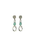 **SPECIAL ORDER**SORRELLI AEGEAN SEA CRYSTAL EARRINGS~ECG32ASAES