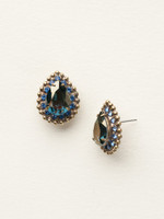 **SPECIAL ORDER**DRESS BLUES CRYSTAL EARRINGS BY SORRELLI~ECQ15AGDBL