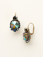 **SPECIAL ORDER**DRESS BLUES CRYSTAL EARRINGS BY SORRELLI~ECQ27AGDBL