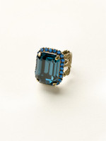 **SPECIAL ORDER**DRESS BLUES CRYSTAL RING BY SORRELLI~RCF9AGDBL