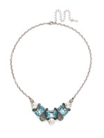 **SPECIAL ORDER**SORRELLI~PEBBLE BLUE Crystal Necklace~NDK8ASPEB