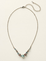 **SPECIAL ORDER**  Sorrelli Sky Blue Peach Crystal  Necklace~ NCQ14ASSKY
