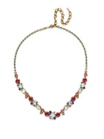 Sorrelli Bohemian Bright  Crystal Necklace~NDK17AGBHB