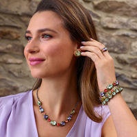 Sorrelli Bohemian Bright  Crystal Necklace~NDX7AGBHB