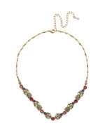 Sorrelli Bohemian Bright Crystal Necklace~NEA2AGBHB