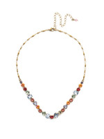 Sorrelli Bohemian Bright Crystal Necklace~NDX14AGBHB