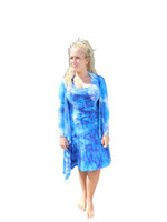 Ice Tye Dye Jacket by Martha- Peacock Blue