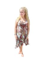 Ice Tye Dye Asymmetrical Sleeveless Dress by Martha- Autumn