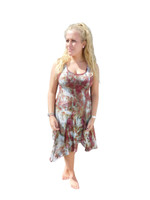 Ice Tye Dye Asymmetrical Sleeveless Dress by Martha- Autumn