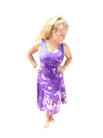 Ice Tye Dye Asymmetrical Sleeveless Dress by Martha- Wild Berry