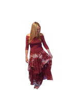 Luna Luz Silk Organza Dress~Burnt Henna