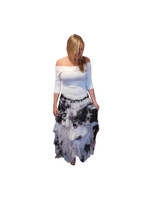 Luna Luz Silk Organza Dress~Black/White