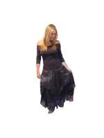 Luna Luz Silk Organza Dress~Chocolate Cloud