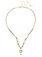 Sorrelli Polished Pearl Necklace~NEC6BGPLP