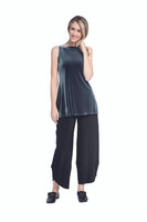 Shown in Graphite Velvet  with Sympli Palazzo Pant(27188)