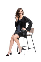 Shown in Graphite Velvet  with Sympli Savvy Velvet Cardigan(VB3515)