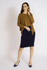 Shown in Navy with Urban Topper in Cognac