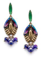 Sorrelli Game of Jewel Tones Lillie Crystal Drop Earrings~EEF4AGGOT