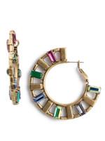 Sorrelli Game of Jewel Tones Arden  Crystal Hoop Earrings~EEF29AGGOT