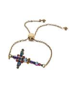 Sorrelli Game of Jewel Tones Veniza  Crystal Slider Bracelet~BEC23AGGOT