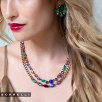 Sorrelli Game of Jewel Tones  Classic   Crystal  Necklace~NAQ3AGGOT